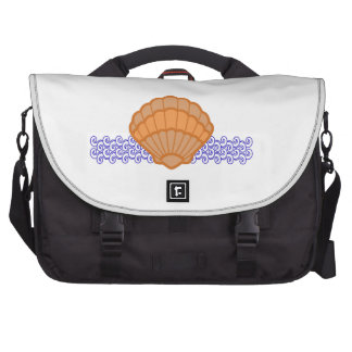 SHELL APPLIQUE ON WAVES LAPTOP COMPUTER BAG