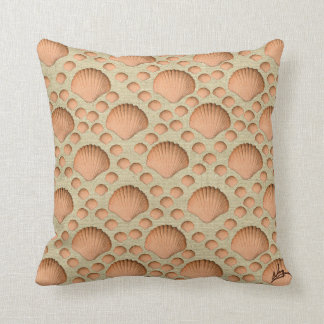 Shell art throw pillow