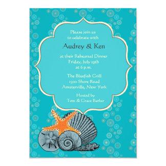 "Shell Assortment Rehearsal Dinner Invitation 5"" X 7"" Invitation Card"