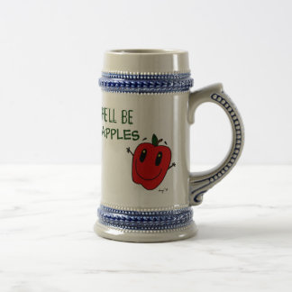 SHE'LL BE APPLES Stein 18 Oz Beer Stein