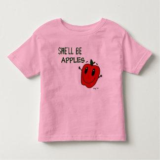 SHE'LL BE APPLES Toddler Ringer T-Shirt