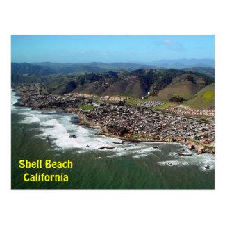 Shell Beach, California Aerial View Postcard