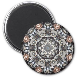 Shell Beach Mandala 2 Inch Round Magnet