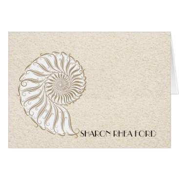 Beach Themed Shell Beach Notecard