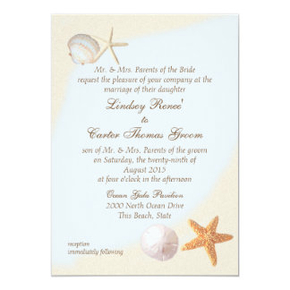 Shell Beach Sea Shore Wedding Card
