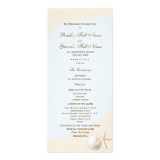 Shell Beach Starfish Wedding Program