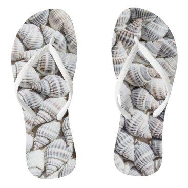 Christmas Themed shell beach thongs flip flops women