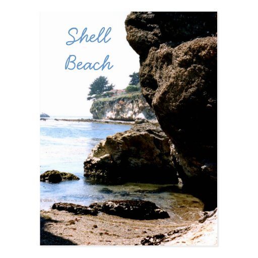 Shell Beach Travel Postcard