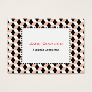 Shell, Black & White 3D Cubes Pattern Business Card