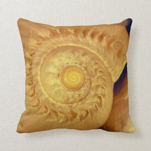 Shell Burst 6 Gorgeous Fluted Conch Throw Pillow