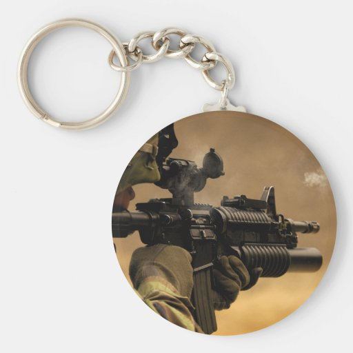 Shell Casing Fired from an M-4 Rifle Keychain