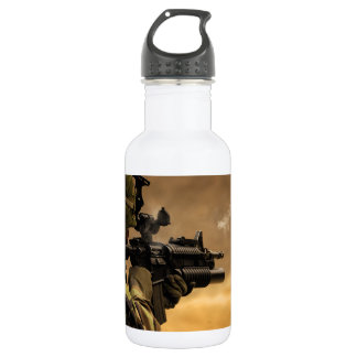 Shell Casing Fired from an M-4 Rifle Water Bottle