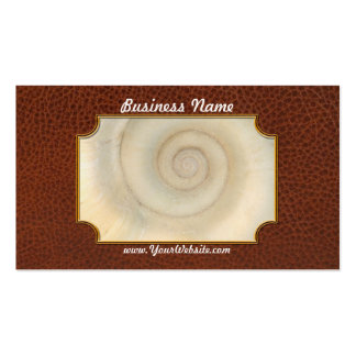 Shell - Conchology - White Spiral Business Card