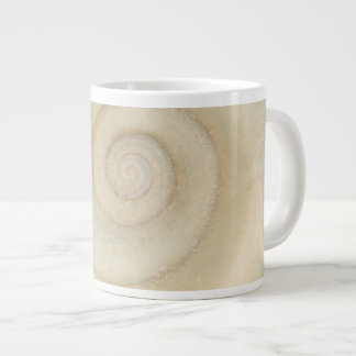 Shell - Conchology - White Spiral Giant Coffee Mug
