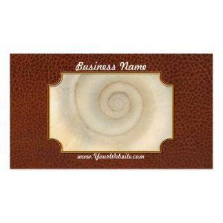 Shell - conquiliología - espiral blanco tarjetas de visita