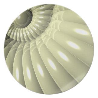 Shell de la repetición plato de comida