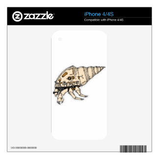 Shell Decals For The iPhone 4S