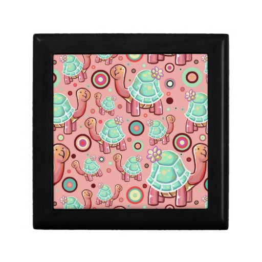 Shell en colores pastel florece el modelo de la to joyero cuadrado pequeño