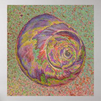 Shell en colores pastel póster