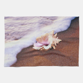 Shell en la playa toalla