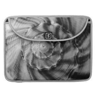 Shell espiral, blanco y negro, manga de MacBook Pr Funda Macbook Pro