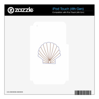 Shell Estitch Applique Skins For iPod Touch 4G