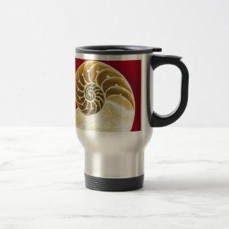 Shell fósil diseña taza de viaje