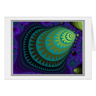 SHELL FRACTAL: No frame, no thought Greeting Card