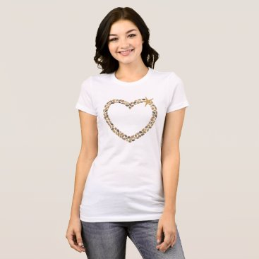 Beach Themed Shell Heart Jersey T-Shirt