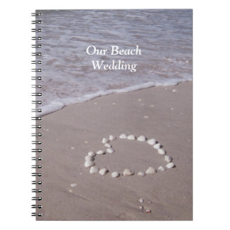 Shell Heart on Sandy Beach Wedding Books