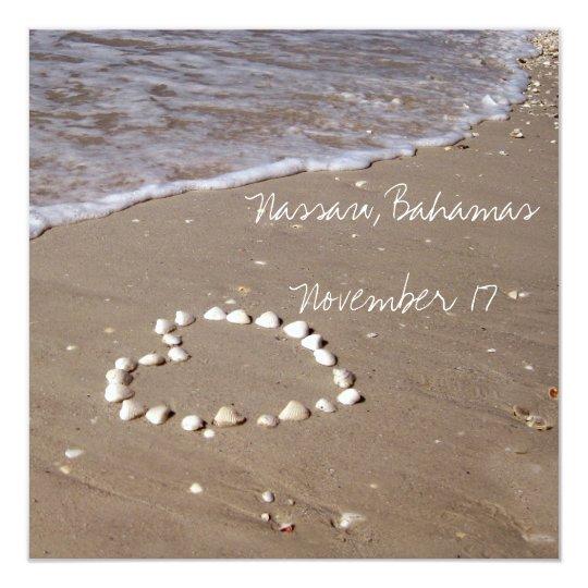 Shell Heart on the Sandy Beach Card