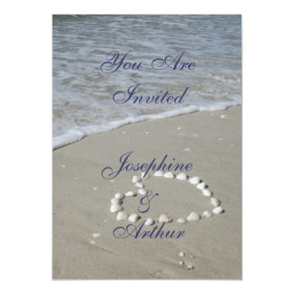 Shell Heart on the Sandy Beach Invite