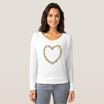 Beach Themed Shell Heart T-shirt