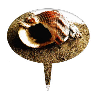 Shell in the Sand Cake Topper