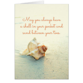 Shell in your Pocket Sand Between Toes Beach Card