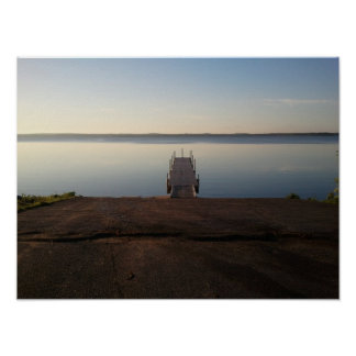 Shell Lake Wisconsin Boat Landing Picture Poster