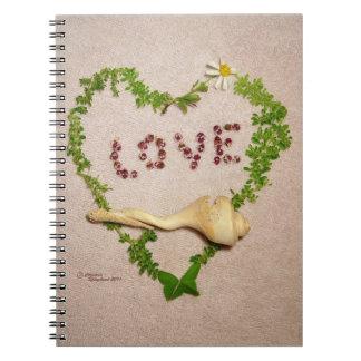 Shell love heart Notebook
