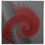 Shell mecánico. Digitaces rojas y grises Art. Servilletas