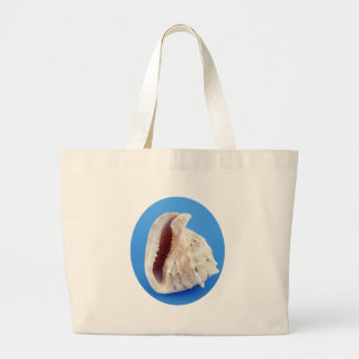 Shell of a Conch on Blue Tote Bag