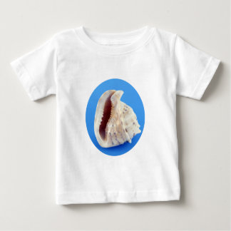 Shell of a Conch on Blue Infant T-shirt