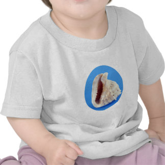Shell of a Conch on Blue T Shirts