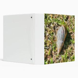 Shell on a beach 3 ring binder