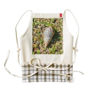 Shell on a beach zazzle HEART apron