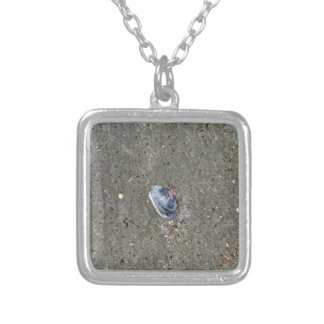 SHELL ON BEACH QUEENSLAND AUSTRALIA SQUARE PENDANT NECKLACE