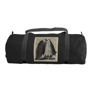 Shell Over Vintage Dictionary Book Page Gym Bag