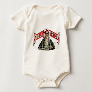 Shell Oysters Vintage Advertisement Baby Bodysuit