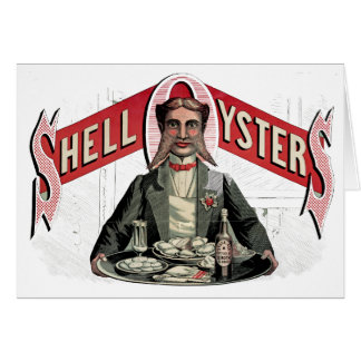 Shell Oysters Vintage Advertisement Greeting Card