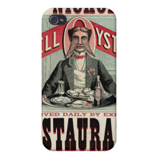 Shell Oysters Vintage Advertisement iPhone 4 Case