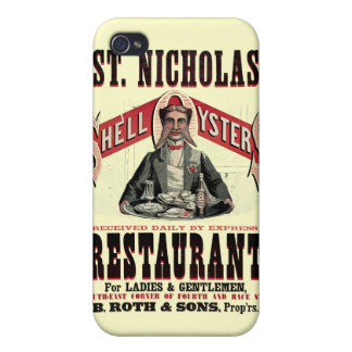Shell Oysters Vintage Advertisement Case For iPhone 4