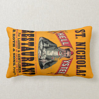 Shell Oysters Vintage Poster Pillow